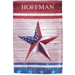 Personalized Barn Star Garden Flag