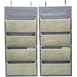 Evelots Over the Door Fabric Organizer Set of 2