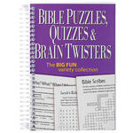 Bible Puzzles, Quizzes & Brain Twisters Mini Book