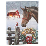 Christmas Horse Lighted Canvas by Holiday Peak™