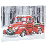 Personalized Red Truck Lighted Christmas Canvas by Holiday Peak™