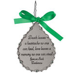 Personalized Pewter Irish Memorial Ornament