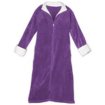 Plush Zipper Front Fleece Robe