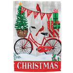 Merry Christmas Bike Garden Flag