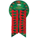 Mini Velvet Christmas Bows, Set of 18