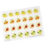 Cute Fruit Seals, Set of 24