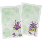 Lavendar Floral Stationery Set