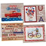 Patriotic Notecards, Set of 20