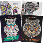 Adult Animal Coloring Books, Set of 4