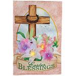 Easter Blessings Lighted Garden Flag