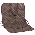 Brown Quilted Car Seat Protector