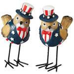 Patriotic Bird Figurines, Set of 2 by Holiday Peak™