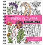 Simple 1-2-3™ Fresh Flowers Color & Frame Book