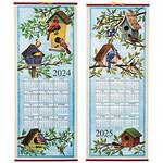 Birds Houses Scroll Calendar