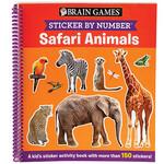 Brain Games® Sticker By Number ™ Safari Animals