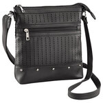 Perforated Crossbody with Front Zipper