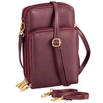 Multi-Compartment Cellphone Purse with Touch Screen