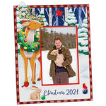 Personalized Woodland Friends Christmas Frame