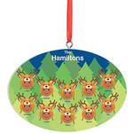 Personalized Medium Skintone Reindeer Hat Family Ornament