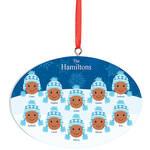 Personalized Medium Skintone Winter Hat Family Ornament