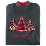 Peace & Joy Applique Tree Sweatshirt by Sawyer Creek™