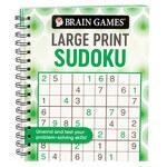 Brain Games® Swirls Design Large Print Sudoku Puzzles