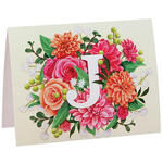 Personalized Floral Initial Notecards, Set of 20