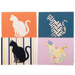 Cat Design Blank Greeting Cards, Set of 20