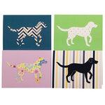 Dog Design Blank Greeting Cards, Set of 20
