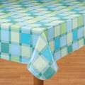 Seaside Plaid Table Cover  60