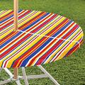 Striped Umbrella Table Cover