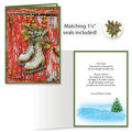 Vintage Skates Christmas Card Set of 20   Card Only Personalization
