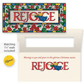 Rejoice Christian Non Personalized Christmas Card Set of 20