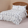 Blue Floral Scalloped Quilt by East Wing Comforts™