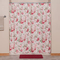 English Floral Shower Curtain Blue