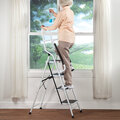 Folding Four Step Ladder with Handrails