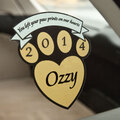 Personalized Pet Memorial Window Cling