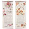 Pastel Floral Scroll Calendar
