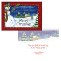 Festive Snowman Personalized Card Set of 20   Card Only Personalization