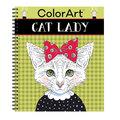 Color Art Cat Lady Coloring Book