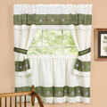 Berkshire Embellished Curtain Tier and Valance Set
