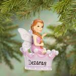 Personalized Purple Fairy Ornament