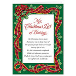 Personalized My Christmas List Christmas Card Set of 20