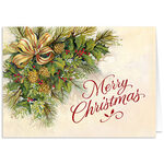 Personalized Christmas Greenery Christmas Card Set of 20
