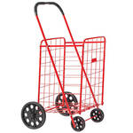 Deluxe Steel Shopping Cart