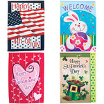 Garden Flags, Set Of 4
