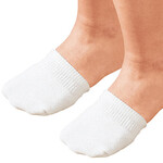 Toe Half Socks 2 Pair - White