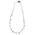 Christmas Flashing Light Bulb Necklace