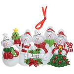Personalized Snow Family Ornament