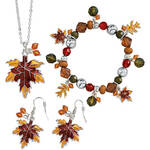 Autumn Leaf Jewelry, Set of 3